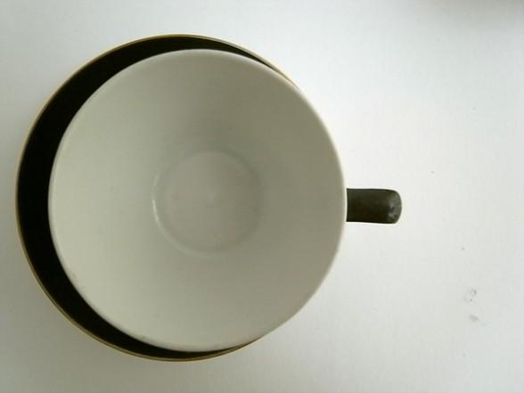 HOLLOHAZA デミタスカップ&ソーサー ブラック